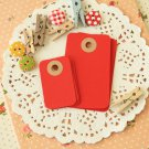 Apple Red petite rounded gift tags