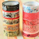 Cartoon & Eiffel 10pc mini tapes set Series 10-4