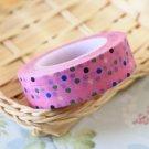 Colour Polka Dots Pink washi tape