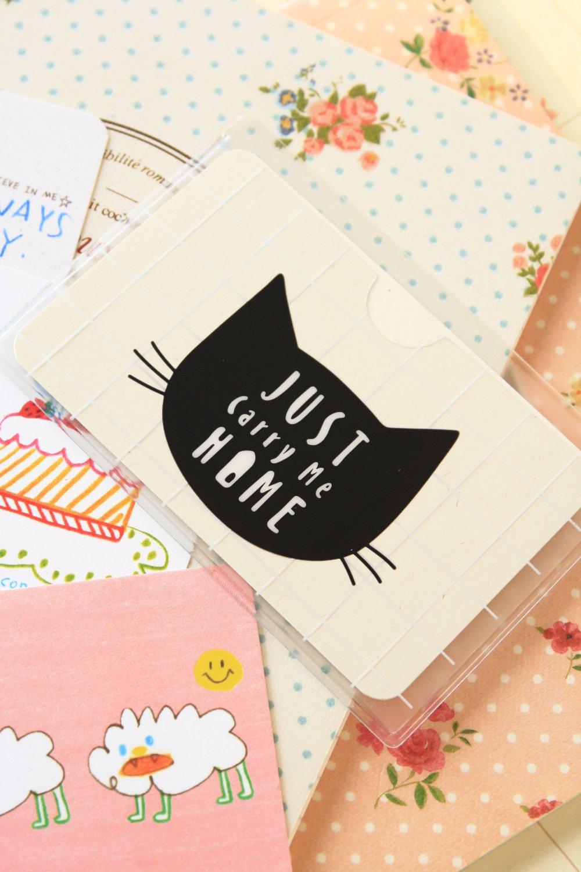 01 Meow Cat cartoon card holder