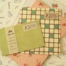 Green Vintage Style Simple Grid writing paper & envelopes set