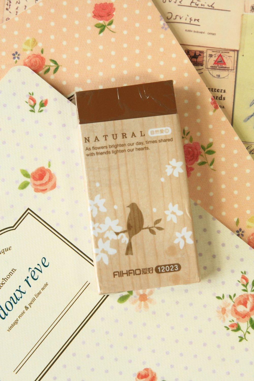 Bird Natural oversized eraser