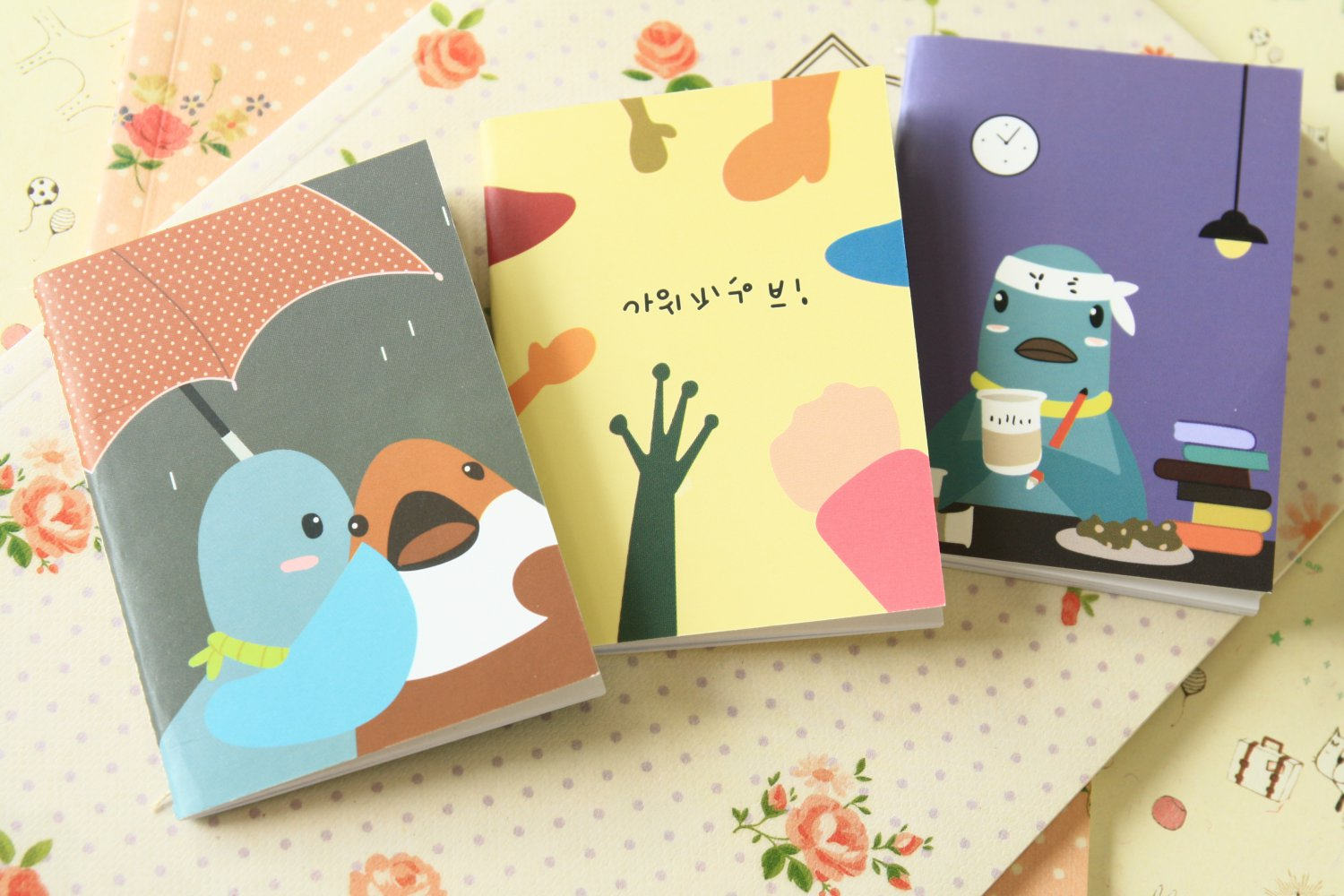 Set 02 Isme Mini cartoon notebooks