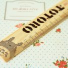 02 Totoro cartoon animal wooden Pocket Ruler