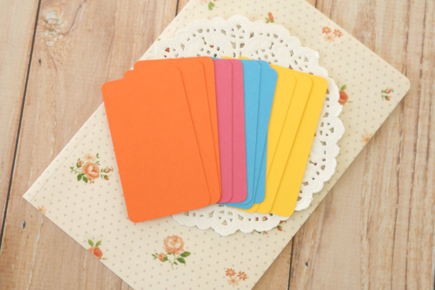 Flowers Mix blank business cards