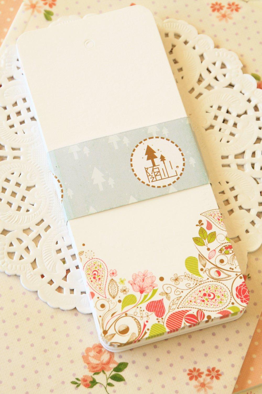 Flowers illustrated bookmark blanks