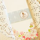 Flowers illustrated bookmark blanks