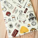 Bon Voyage Tourist Girl Cotton Linen blend fabric quarter