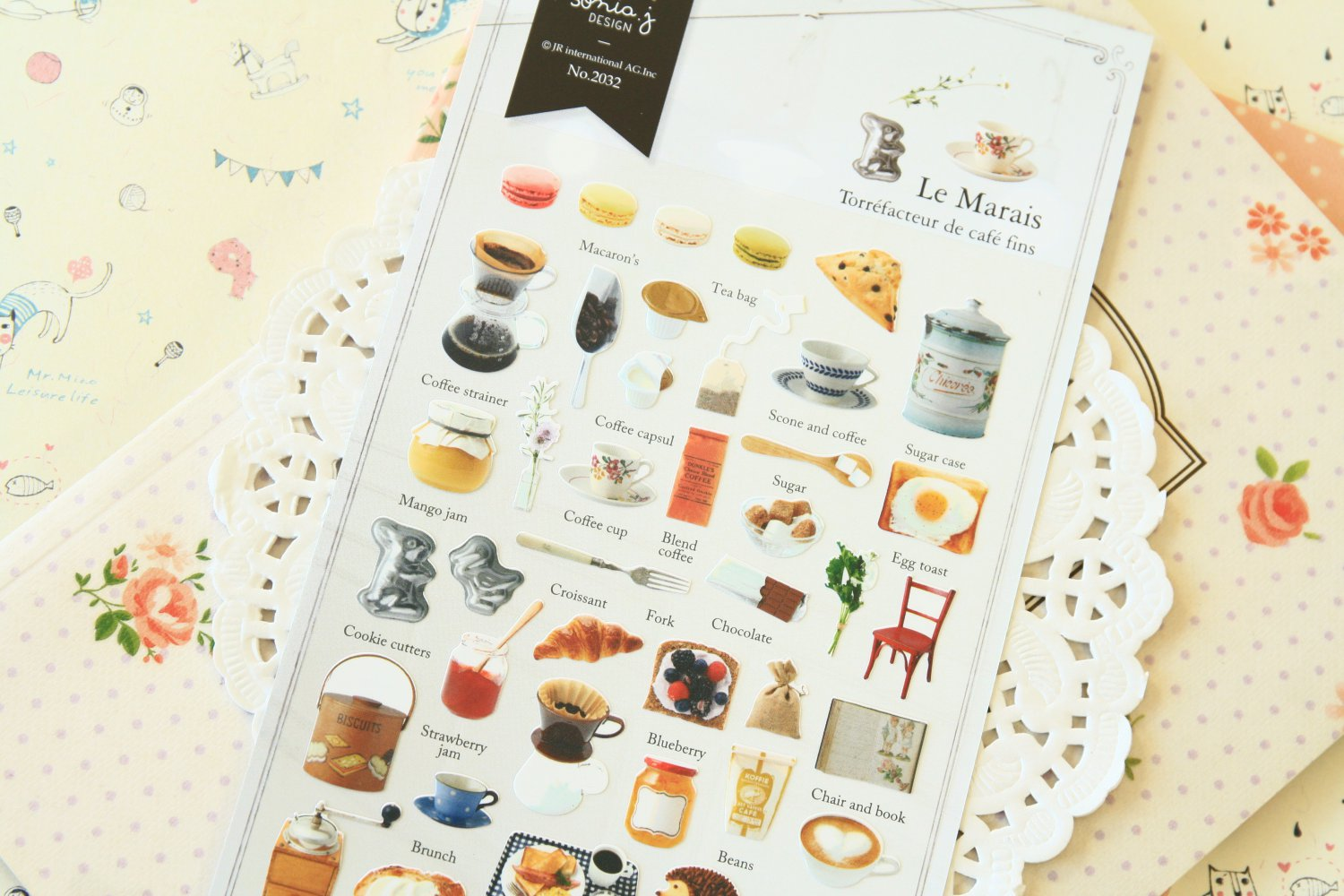 Le Marais Sonia cafe deco scrapbooking stickers