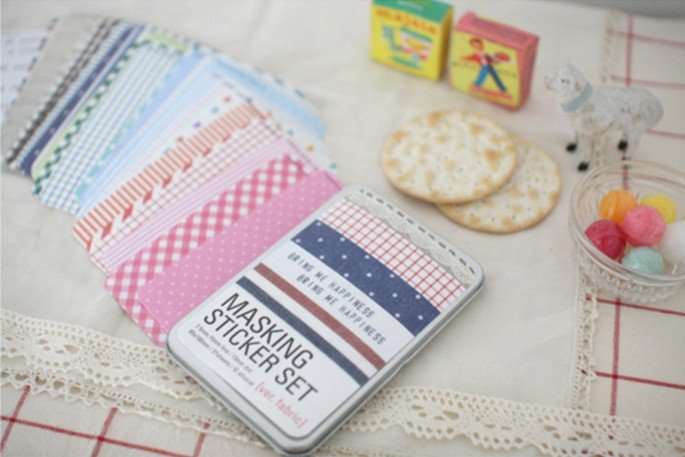 Fabric masking stickers set