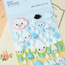 Funny Stickerworld Raindrops Felt Stickers