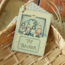 Top Teacher East of India printed gift tags