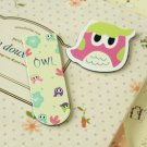 01 Cute Owl cartoon magnetic bookmark paper clips