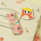 03 Cute Owl cartoon magnetic bookmark paper clips