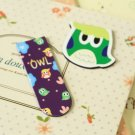 04 Cute Owl cartoon magnetic bookmark paper clips