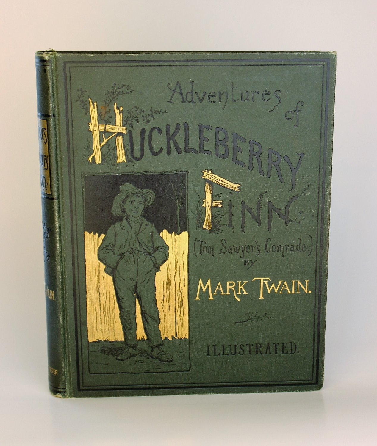 ADVENTURES OF HUCKLEBERRY FINN by Mark Twain 1885 FIRST EDITION Later state