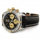 RARE Breitling Windrider Jetstream Chronograph 18K Gold Watch B55048 $3,350+