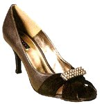 Vincci HEEL WITH DIAMANTE  (BLACK)
