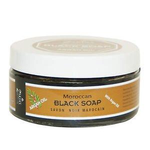 6 Pack Moroccan Black Soap PLUS  Kessa Exfoliating Glove