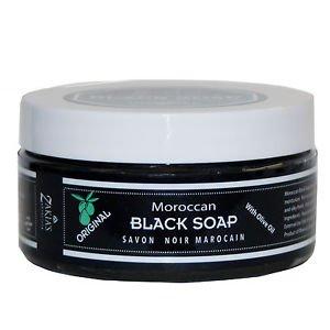 6 Pack Moroccan Black Soap PLUS  Kessa Exfoliating Glove-Original/No Scent