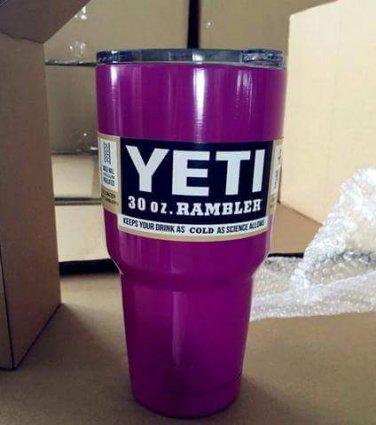 yeti 30 oz tumbler powdercoated purple