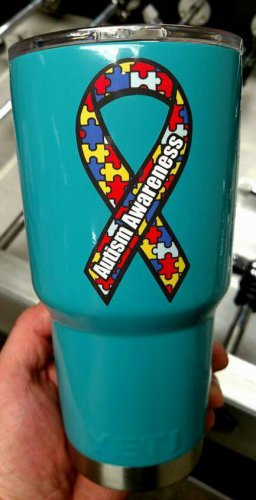 30 oz yeti tumbler custom Autism Awareness cup