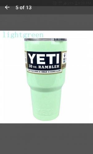 30 ounce Yeti tumbler mint green