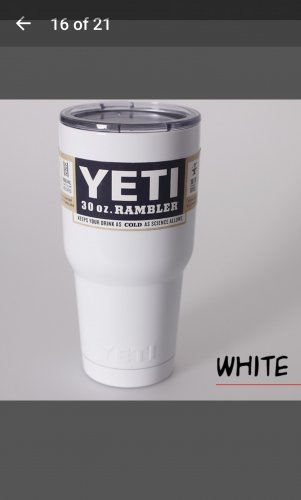 30 oz yeti tumbler in white
