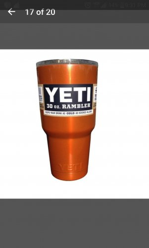 30 oz yeti tumbler in candy orange