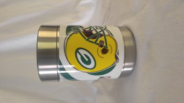 Green bay packers vinal wrapped koozie