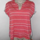 New! Women's CONVERSE ONE STAR M Blouse High Low Cotton Blend Sleeveless Stripe