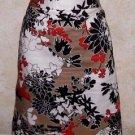 New! Women's VAN HEUSEN STUDIO Multi-Color A Line Skirt Sz10 Lined 100% Cotton