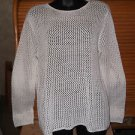 RALPH LAUREN Hand Knit Womens Linen Cotton Long Sleeve Chunky Knit Sweater Sz M