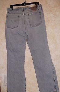 Pre Owned Wrangler Light Wash Work Jeans 33 x 30