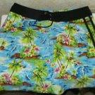 New Women's Catalina Ocean Gear M Skirt Floral Multi Color Medium