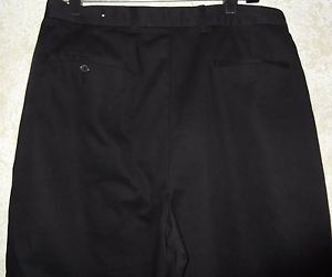 "Black Work Pants Wrinkle Free Size 32"" W x 29"" L Polyester/Cotton"