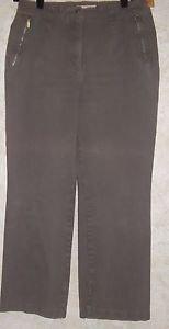 """Women's Taupe Colored Stretch Pants VANILIA Sz 42 95% Cotton/5% Spndx 26"""" Inseam"""