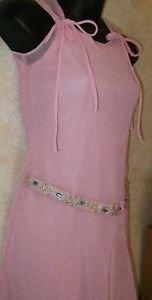 Girl's SHE'S THE ONE  Pink Semi Sheer Sleeveless Lined Slip Dress Size 8 Pretty