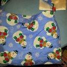 Lot of 3 Holiday Bags Purses Children's Girl's Snowmen Red White Blue Handmade