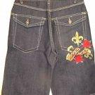 New! Makaveli 2Pac Jean Shorts Youth 12 Denim Kids Boys Cotton Blend Dark Wash