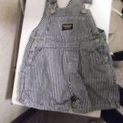 Osh Kosh Boys Toddlers Overalls Blue Stripe Size Large