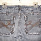 "DKNY Jeans Women's Size 10 Cotton Blend Medium Wash Wide Leg 30"" W x 31"" Inseam"