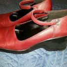 Nine West • Cloud 9 • Leather Shoes• Size 8.5 M Platform HI Mary Jane •Dark Red•