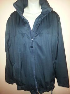 Women's GAP Light Jacket Waterproof Basic Coat Small (Fits Like L) Black Solid