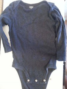 Carters baby long sleeve bodysuit gray 18 months all seasons everyday Carter's