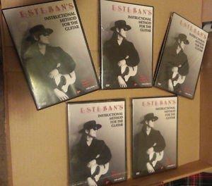 Esteban's Instructional Method Classical Guitar 5 DVDs (4 unopened, 1 opened)