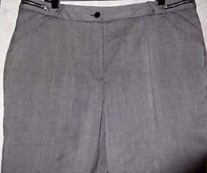 Women's Gray Career Slacks WORTHINGTON 16 Zippered Waistband Polyester Blend EUC
