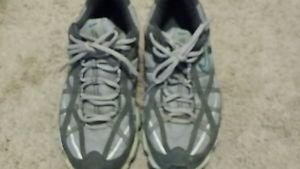 Nike Zoom Air Trail Running Shoe Women Size 9 Excellent Condition Blue/Gray ACG