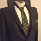 VINTAGE MENS SUIT WOOL BLEND MULTI BROWN BARCLAY JACKET PANTS TIE 3 PC PRE OWNED