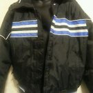 YAMAHA Men's L Black Snowmobile Ski Racing Coat Boarding Thinsulate Basic .